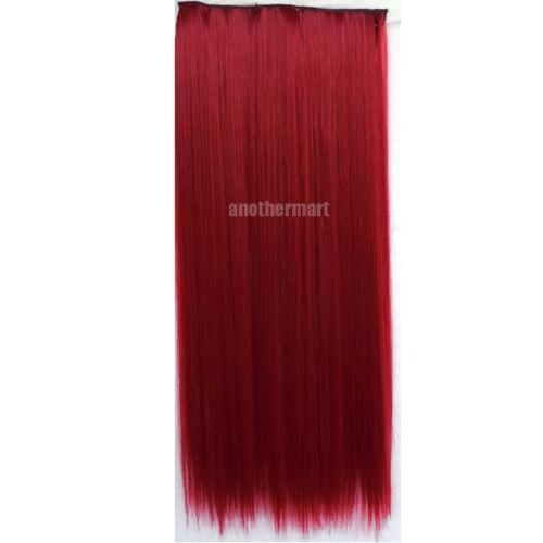 Red Clip In Hair Extensions Ebay