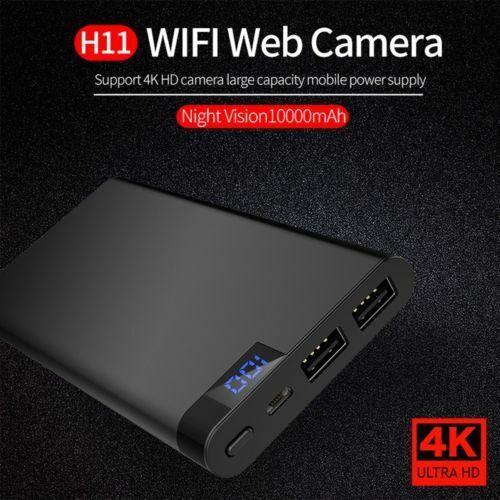 10000mAh Power Bank Spy Hidden Camera Night Vision HD 1080P