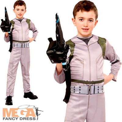 Ghostbusters Boys Halloween Fancy Dress Kids Childrens Childs Costume Outfit BN - Ghostbusters Outfit Kids