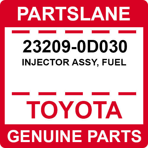 23209-0d030 Toyota Oem Genuine Injector Assy, Fuel