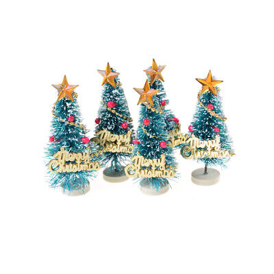 6.5cm High DollHouse Christmas Tree DIY Miniature Decor Photography Props UK NEW
