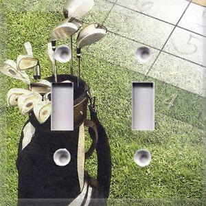Time fore golf light switch cover golf bag home decor Golf decor for home