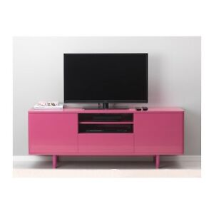 BRAND NEW 2 PINK WALL SHELVES AND TV STAND.