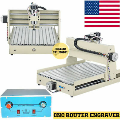 400w 3axis 3040 Router Engraver Milling Carving Machine Metal Drilling Cutter Ce
