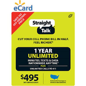 1-YEAR-365-DAYS-Straight-Talk-Unlimited-Service-Phone-Card-with-Phone-Number
