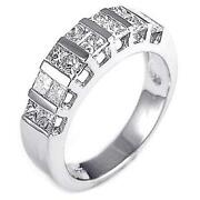 Mens Princess Cut Diamond Ring