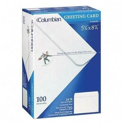 100 Columbian Invitation Envelopes A9 Gum-seal 5-34 X 8-34 Inch White