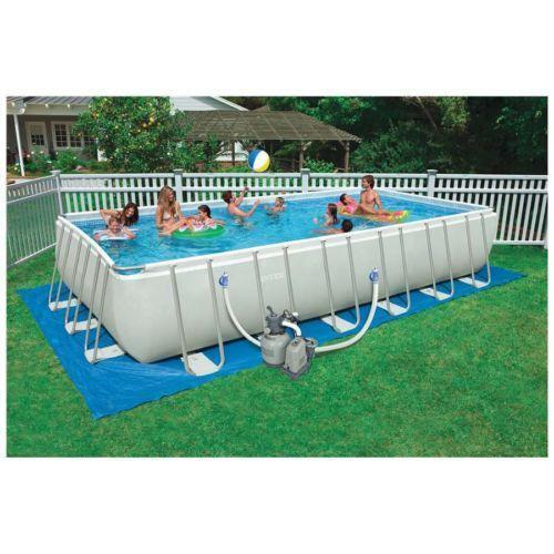 rectangular pool ebay - Rectangle Inflatable Pool