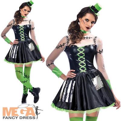 Freaky Frankenstein Ladies Fancy Dress Halloween Monster Adults Womens Costume ()