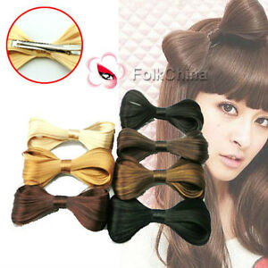 Synthetic-Fake-Hair-Bow-Clip-Lady-Gaga-Hair-Accessories-New-HCT-F