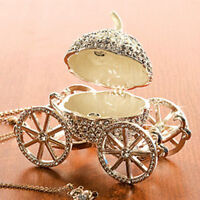 New Girls Crystal Pumpkin Carriage Jewellery Box