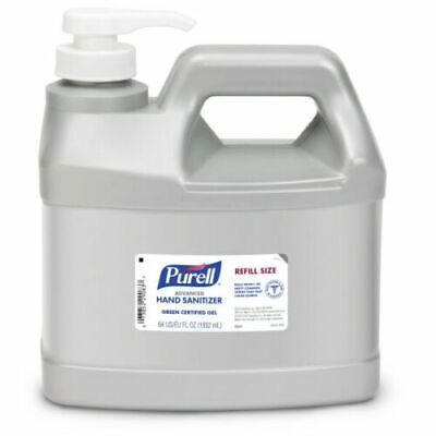 PURELL® Advanced Hand Sanitizer 1/2 Gallon Gel 64 oz 2L Pump Refill Jug