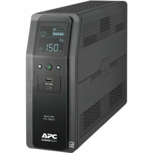 APC 1500VA Back-UPS Pro Sinewave UPS Battery Backup & Surge Protector BR1500MS