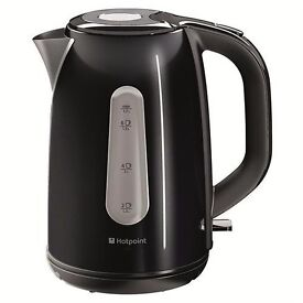 New Hotpoint WK30MDBK0 Kettle Black 1.7L Was: £49.99