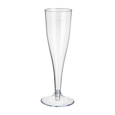 20 Einweg Sektgläser 0,1l Champagnergläser Sektkelche Sektglas mit Steckfuß