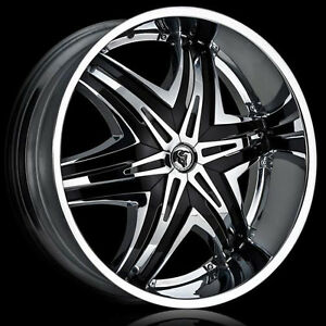 "24""/26"" Diablo Elite  Chevy/Gmc Bolt Pattern  With tires all New"