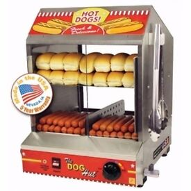 Hot dog steamer/12 months warranty/made in USA, collection only/ 375+VAT