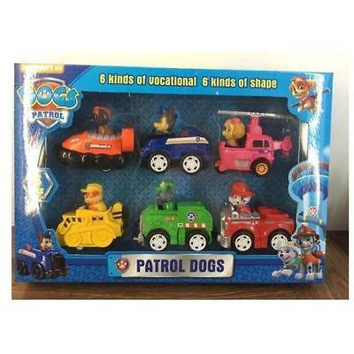 6PCS PAW PATROL Plüsch Puppe Patrol Racer Pups Kinder Spielzeug Geschenke Neu