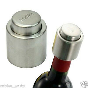 New Stainless Steel Vacuum Sealed Wine Bottle Stopper