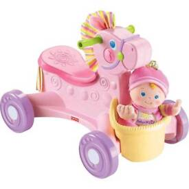 Fisher price ride on musical pony