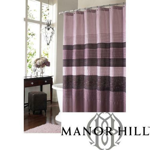 purple and brown shower curtain.  Manor Hill Shower Curtain eBay