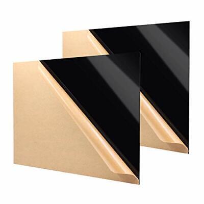 Zuvas Black Plexiglass Sheet 11.8 X 15.75 X 18 2 Pack Black Cast Acrylic ...