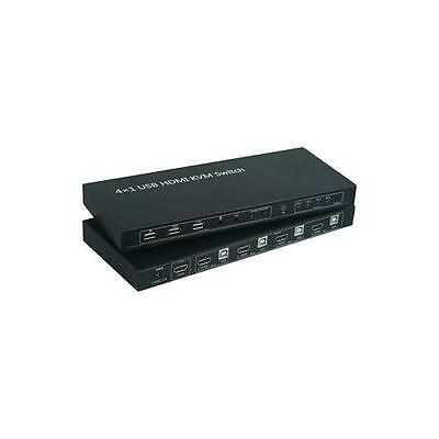 PSG91076 Pro Signal Kvm Switch , 4 Port HDMI & Usb