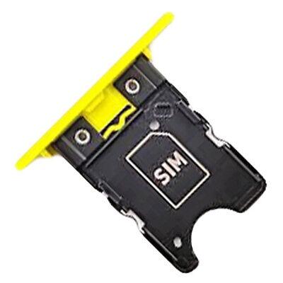 Nokia Lumia 1020 original Sim Karten Halter gelb Card Tray Slot Holder...