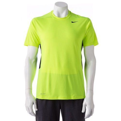 Lime green nike shirt ebay for Neon green shirts for men