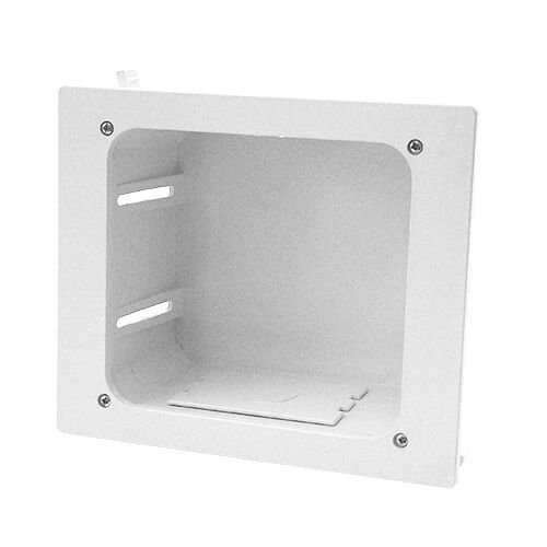 In Wall Recessed Entertainment Box, White