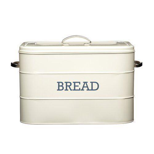 Kitchen Craft Living Nostalgia Steel Bread Bin - Cream