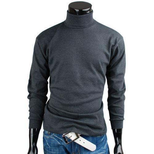 Mens turtle neck t shirt ebay for Turtle shirts for men