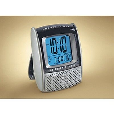 The Sharper Image Travel Folding Digital alarm clock, With Temperature & Date