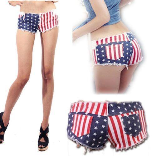 American Flag Jean Shorts | eBay
