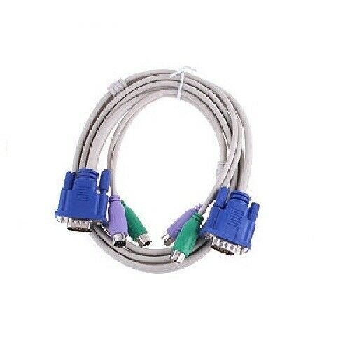 New 5 Feet 1.5M PS2 KVM Switch Computer Cable Set For VGA Keyboard Mouse US Computer Cables & Connectors