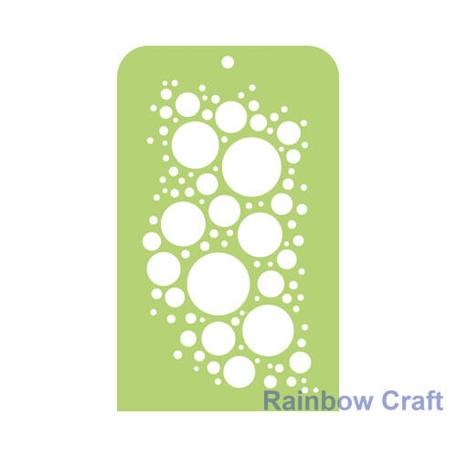 Kaisercraft Mini Designer Templates Stencils Blossom Christmas Holly Leaves - Bubbly