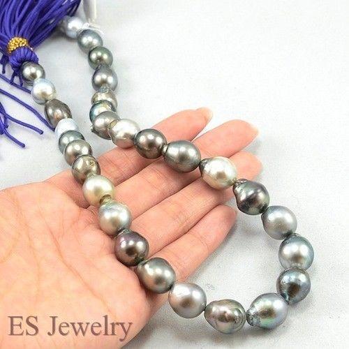 Mikimoto Tahitian Pearl Necklace: Multicolor Tahitian Pearl Necklace