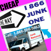 CRAZY __ CHEAP __ JUNK REMOVAL = 1866 586 5663