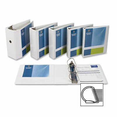 Business Source 28445 5-Inch Slant Ring View Binder - White