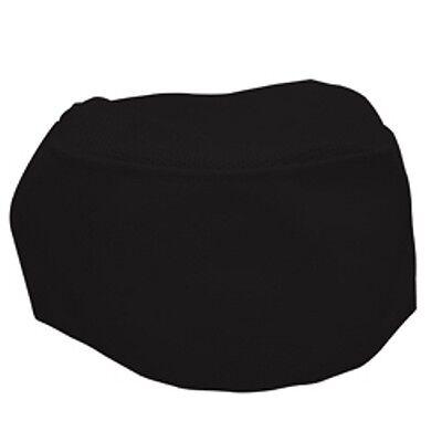 1 New Black Chef Beanie Skull Cap Hat Cook Cap - Mesh Top - Super Nice