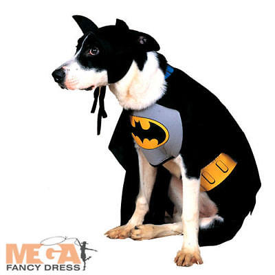 Batman Dog Fancy Dress Pet Animal Puppy Fun Superhero Movie Costume Outfit New (Batman Dog Outfit)