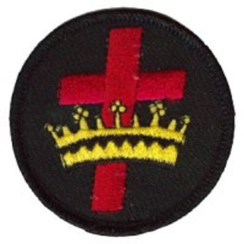 CROSS CROWN EMBROIDERED IRON-ON PATCH