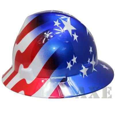 Msa Hard Hat 10071157 American Stars And Stripes Ratchet Suspension