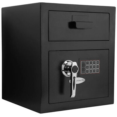 Barska Standard Keypad Depository Safe w/ Door Drop Slot & Back-up Keys, (Standard Keypad)