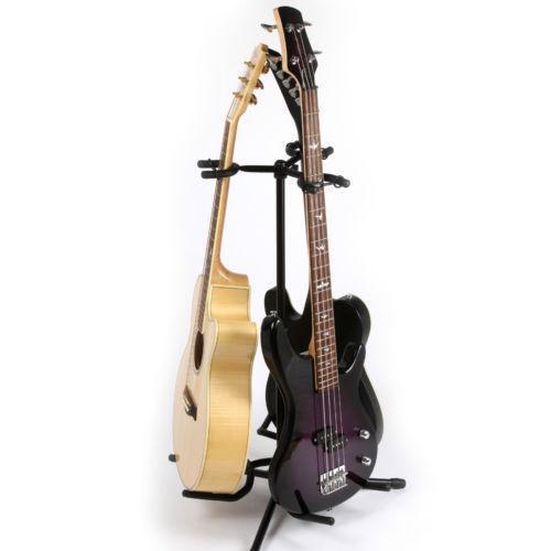 triple guitar stand ebay. Black Bedroom Furniture Sets. Home Design Ideas