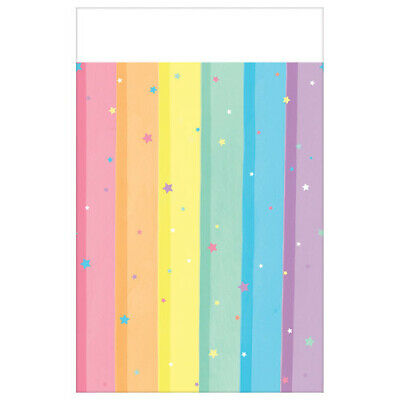 MAGICAL RAINBOW PLASTIC TABLE COVER ~ Birthday Party Supplies Decoration Cloth](Plastic Tablecloths Decorating)