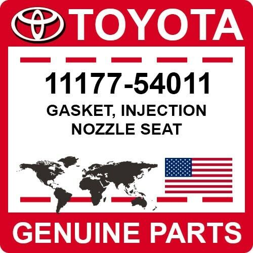 11177-54011 Toyota Oem Genuine Gasket, Injection Nozzle Seat
