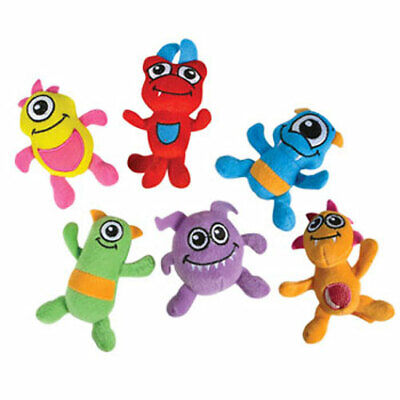 Monster Stuffed Animals (Generic Value Plush - MONSTERS (6 Different Colors) (4 inch) -New Stuffed)
