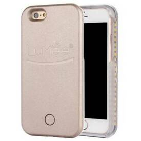 Lumee Illuminated Selfie cover iPhone 6/7 (Rose Gold)
