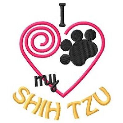 "I ""Heart"" My Shih Tzu Long-Sleeved T-Shirt 1423-2 Size S - XXL"